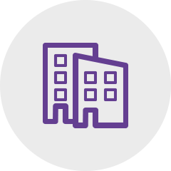 Icon houses violet: Sagawe & Klages Rechtsanwälte: Consulting for companies on real estate law.