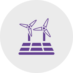 Icon pinmills violet: Sagawe & Klages Rechtsanwälte: Consulting for companies in the field of renewable energies.